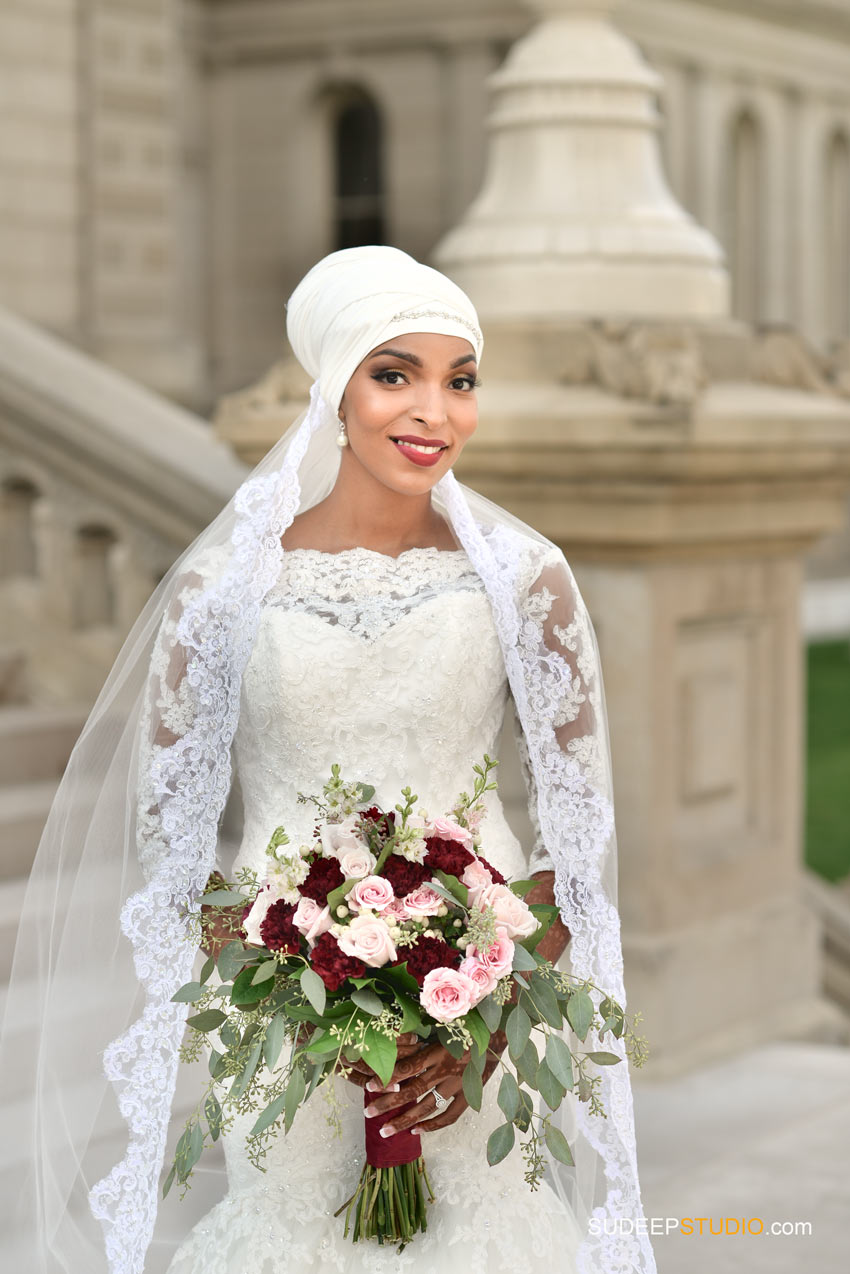 Gorgeous Somali Bride Wedding Dress and Style - SudeepStudio.com Ann Arbor Wedding Photographer