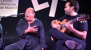 Manuel Moneo y Miguel Salado en el Círculo Flamenco de Madrid, una de las peñas flamencas como Dios manda.
