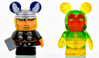 Marvel Vinylmation Series 1 Mystery Chase Variants by Disney - Bearded Thor & Translucent Phasing Vision