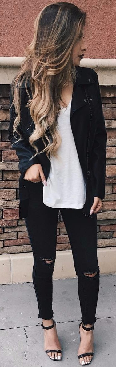 all black everything with white details