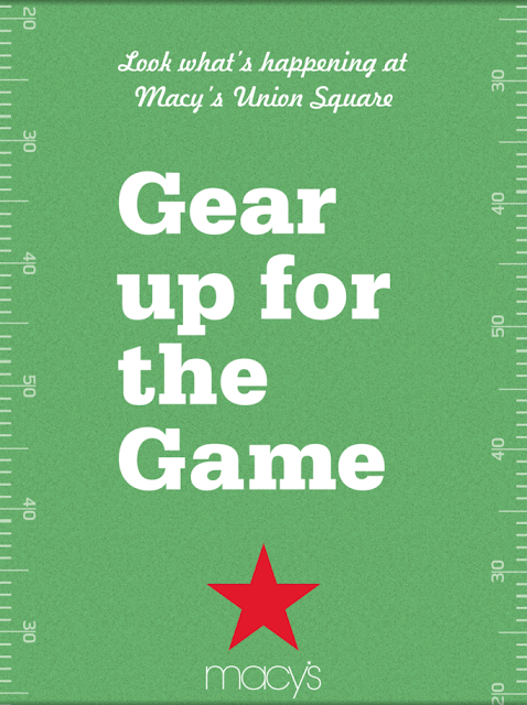Gear up for the Game at Macy's Union Square