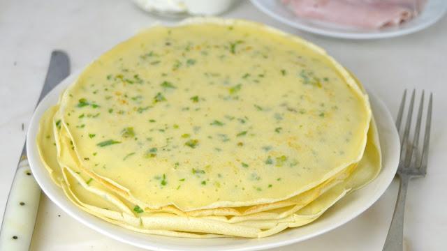 Como hacer crepes salados para rellenar receta