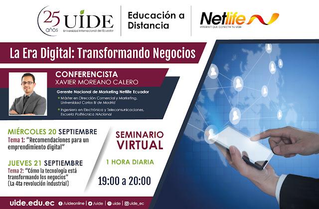 Netlife y la Universidad Internacional del Ecuador juntos en Webinars.