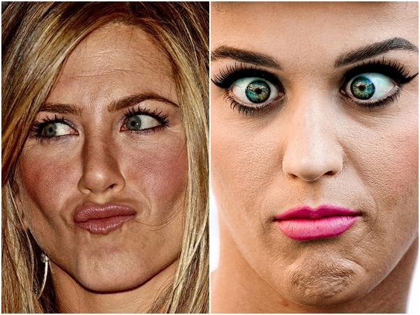 Jennifer Aniston Katy Perry Sem Photoshop Famosas