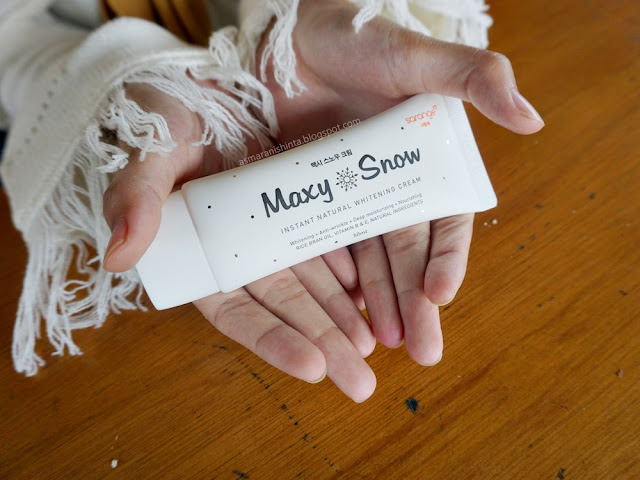 review sarange maxy snow natural whitening cream