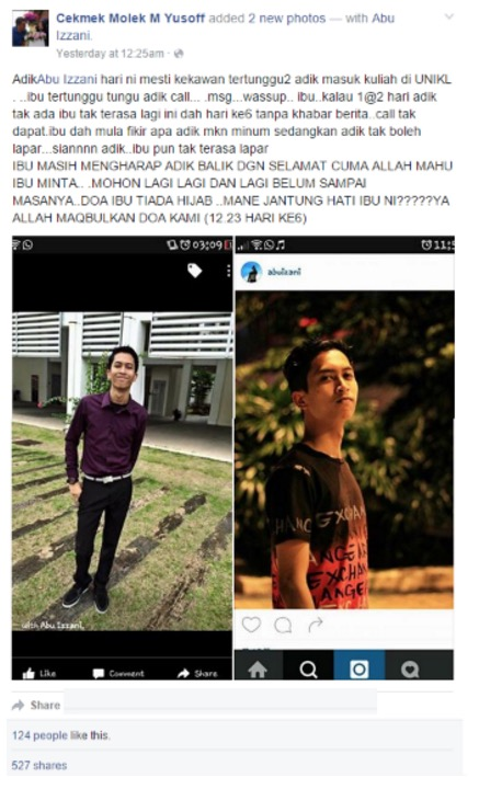 Luahan Sayu Ibu Mangsa 4 Remaja Maut Selepas Seminggu Hilang