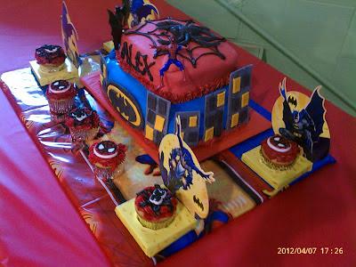 Creative Cakes Spiderman And Bateman Cake
