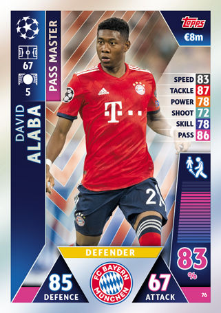 Match Attax Champions League 2018//19 18//19 BAYERN MUNCHEN//Munich