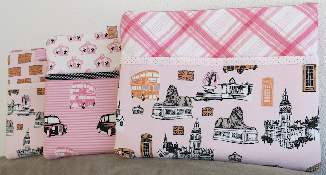 Purse organiser - S.O.T.A.K Handmade pattern -  British Invasion from Riley Blake Designs - Girly London theme pouch