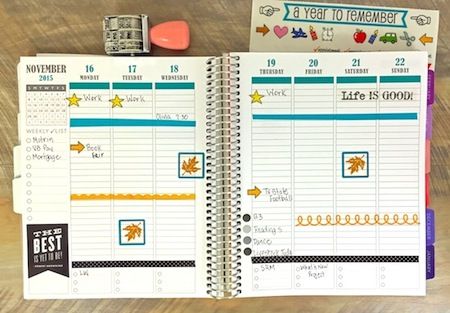 SRM Stickers Blog - Guest Designer - Planner by Corri Garza - #planner #november #guestdesigner #littleborders #stickers #freestyle #calendarcompanion #everydaylife
