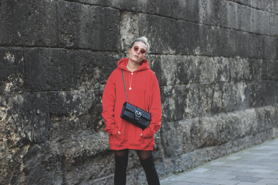 lauralamode outfit ootd look streetstyle hoodie sweatshirt pinko urban classics zara modeblog fashionblog blogger fashionblogger munich muenchen