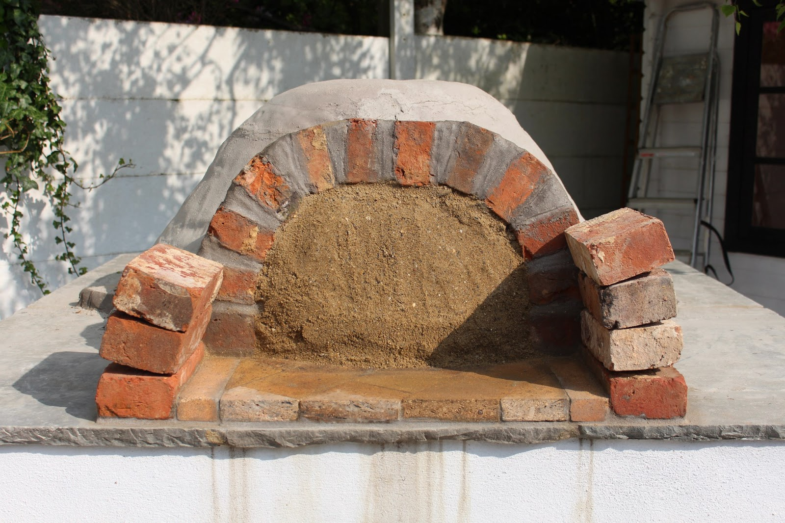 Clay Brick Stove : Flower pot kitchen clay oven building your wood fired