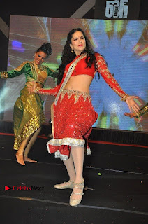 Bollywood Actress Model Sunny Leone Dance Performance in Red Half Saree at Rogue Audio Launch 13 March 2017  0029.jpg