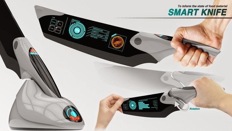 Futuristic Kitchen Knife Set