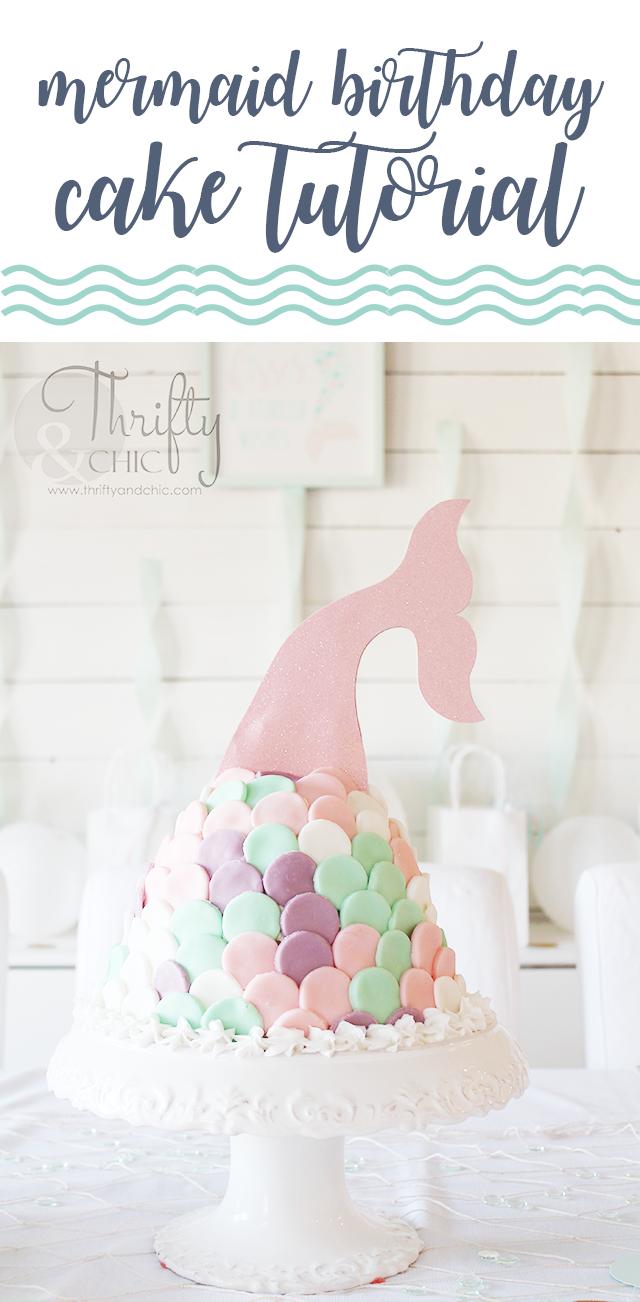 DIY mermaid birthday party and decorating ideas. DIY under the sea birthday party and decorating ideas. DIY mermaid birthday cake tutorial, mermaid tail cake.