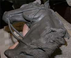 Steps to making a horse sculpture, clay demo