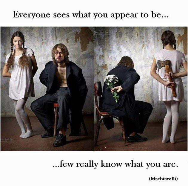 What you appear - what you are...