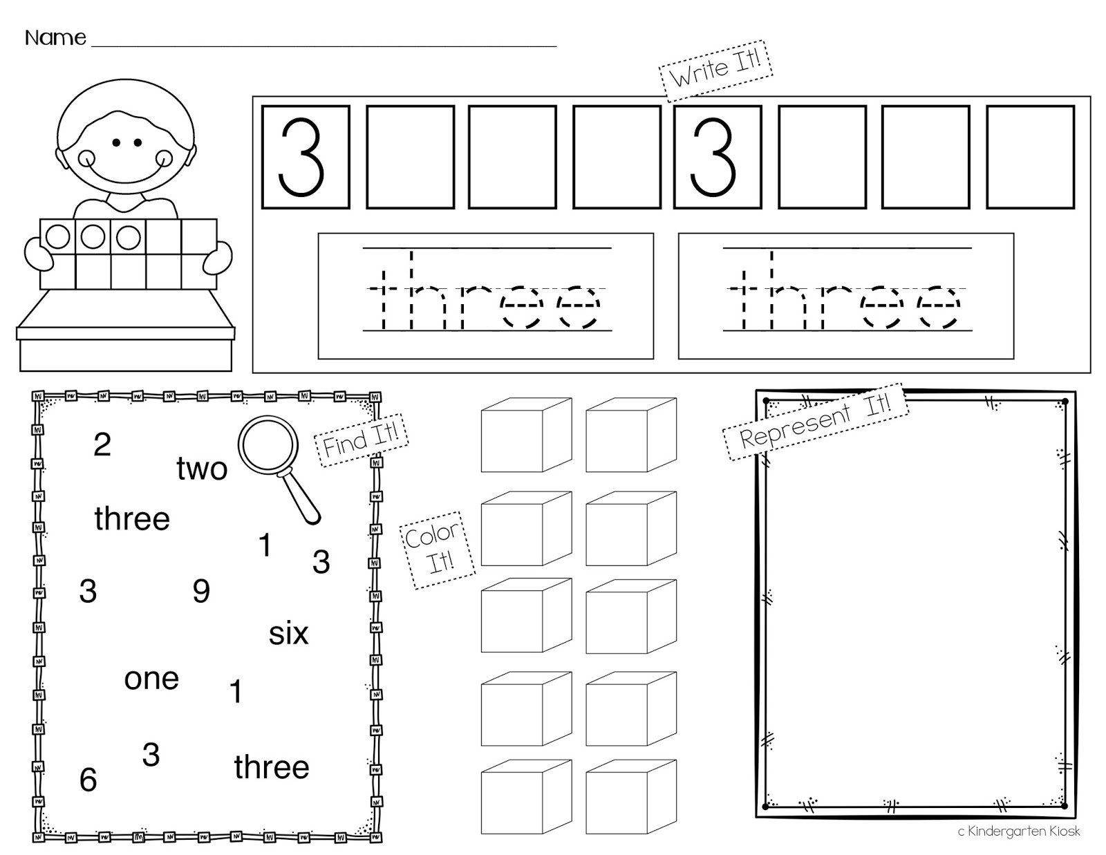 Kindergarten Kiosk Building Number Sense