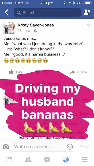 Driving my Husband Bananas with Puns