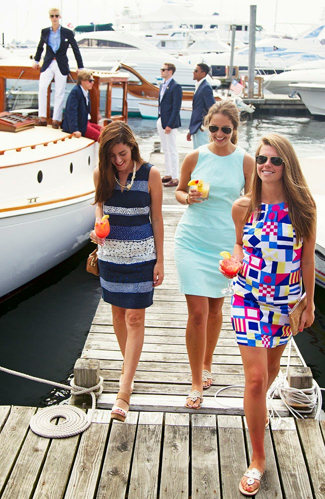 Classy Girls Wear Pearls Boating up to the Mooring