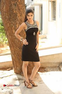 Actress Poojitha Pallavi Naidu Stills in Black Short Dress at Inkenti Nuvve Cheppu Movie Platinum Disc Function  0275.JPG