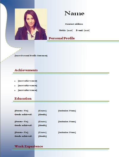 cv model word free
