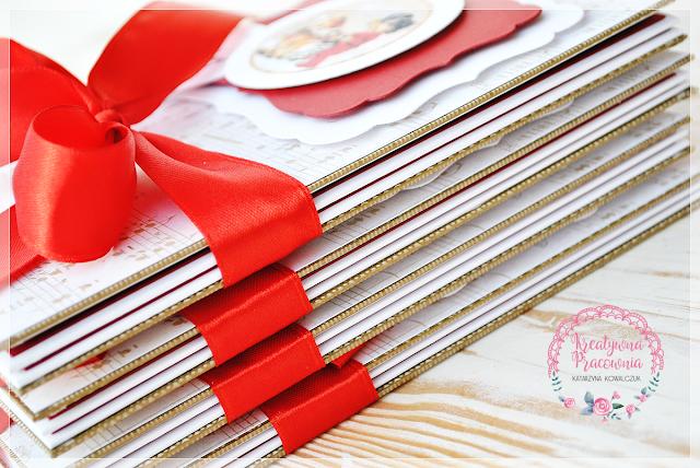 Album świąteczny leporello, handmade, scrapbooking