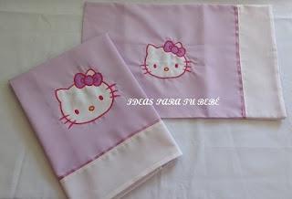 Sábanas Minicuna o Capazo Hello Kitty