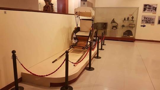 Hiện vật xe lôi được trưng bày tại Bảo tàng Đà Nẵng