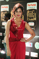 Videesha in Spicy Floor Length Red Sleeveless Gown at IIFA Utsavam Awards 2017  Day 2  Exclusive 40.JPG