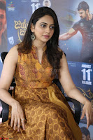 Rakul Preet Singh smiling Beautyin Brown Deep neck Sleeveless Gown at her interview 2.8.17 ~  Exclusive Celebrities Galleries 212.JPG