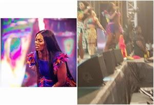 OMG! Tiwa Savage disgraced for disrespecting Ghana Flag (Watch Video)