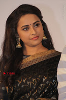 Actress Sri Divya Latest Pos in Black Saree at Sangili Bungili Kathava Thora Tamil Movie Audio Launch  0001.jpg