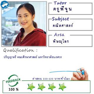 สอนคณิตศาสตร์โดยครูพี่จูน ( ID:12309 ) @เมืองพิษณุโลก ม.นเรศวร