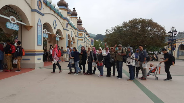 EVERLAND RESORT, EVERLAND THEME PARK, PUSAT HIBURAN TERBESAR DI KOREA, EVERLAND SKY WAY, EVERLAND SKY CRUISE, AUTUM, MUSIM LURUH, MAPLE TREE,