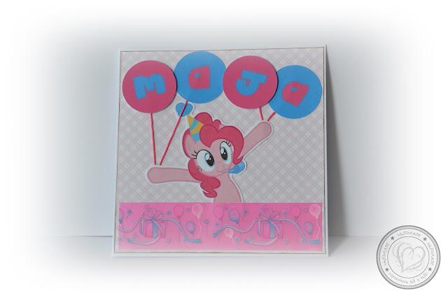 Słodka karteczka na słodkie urodzinki małej Mai