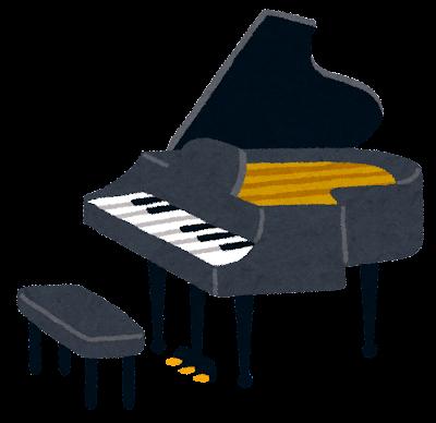 グランドピアノのイラスト