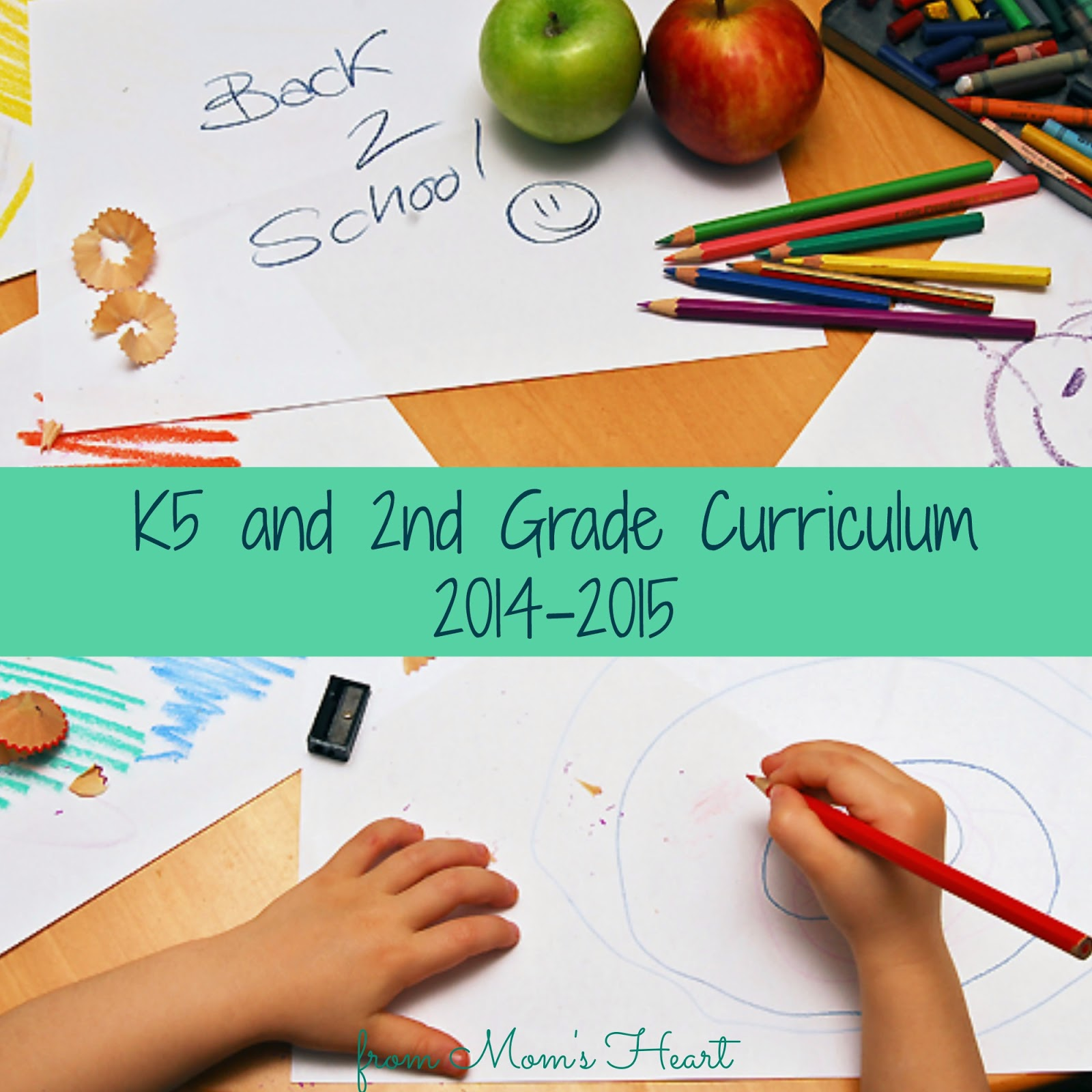 Mom's Heart: K5 and 2nd Grade Curriculum Choices