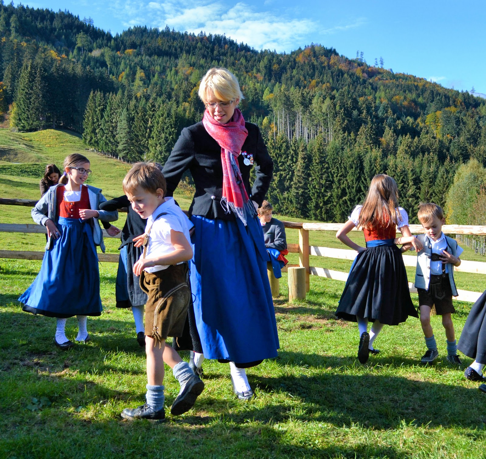 Sound of Music comes to life in the Gschwandtanger meadow.