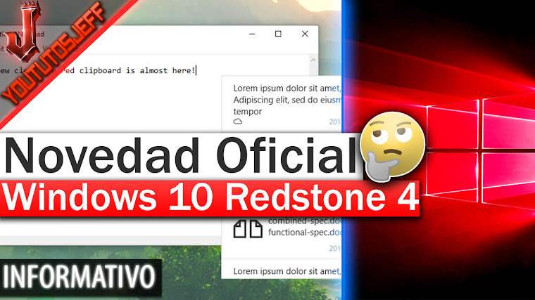 Novedad Oficial de Windows 10 Redstone 4 - Cloud Clipboard