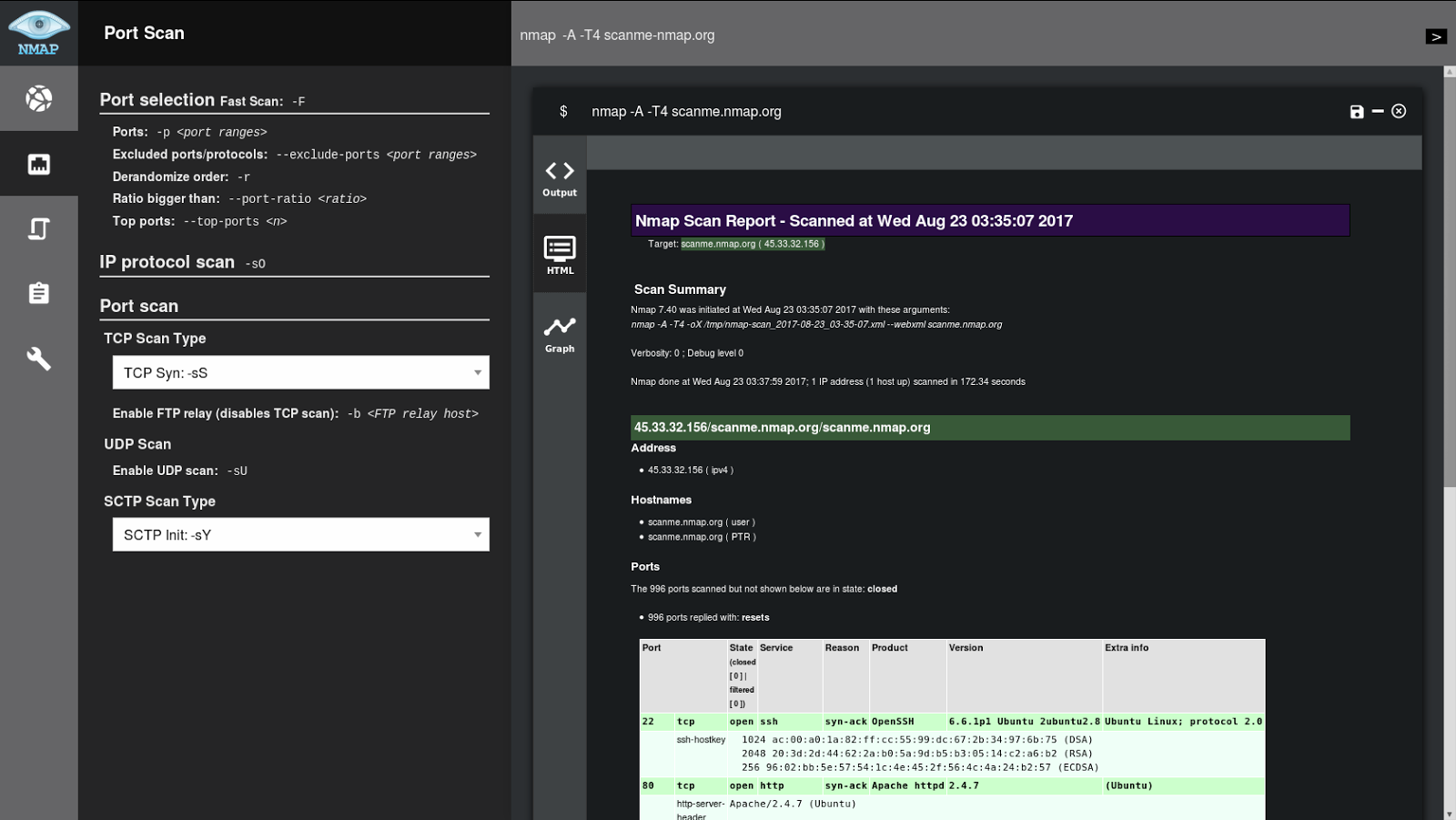 NMapGUI - Advanced Graphical User Interface for NMap