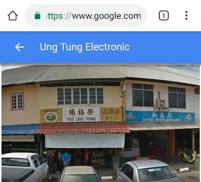Kedai No. 38 Ung Tung Elektronik pasar lama Betong