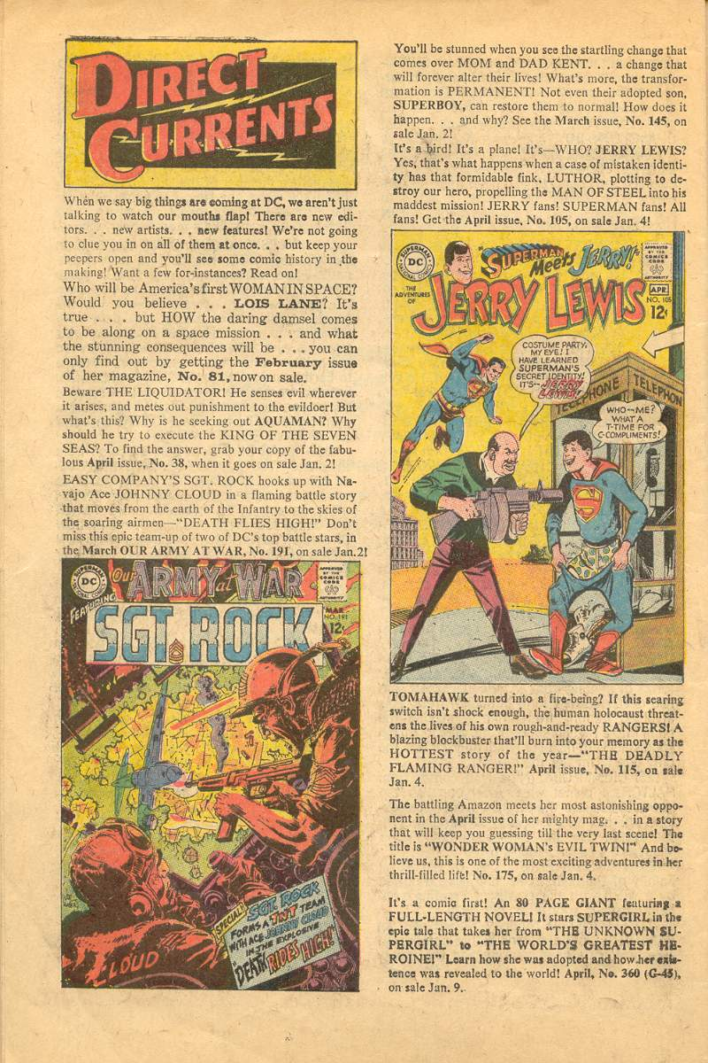 Days Of Adventure Adventure Comics 365 February 1968