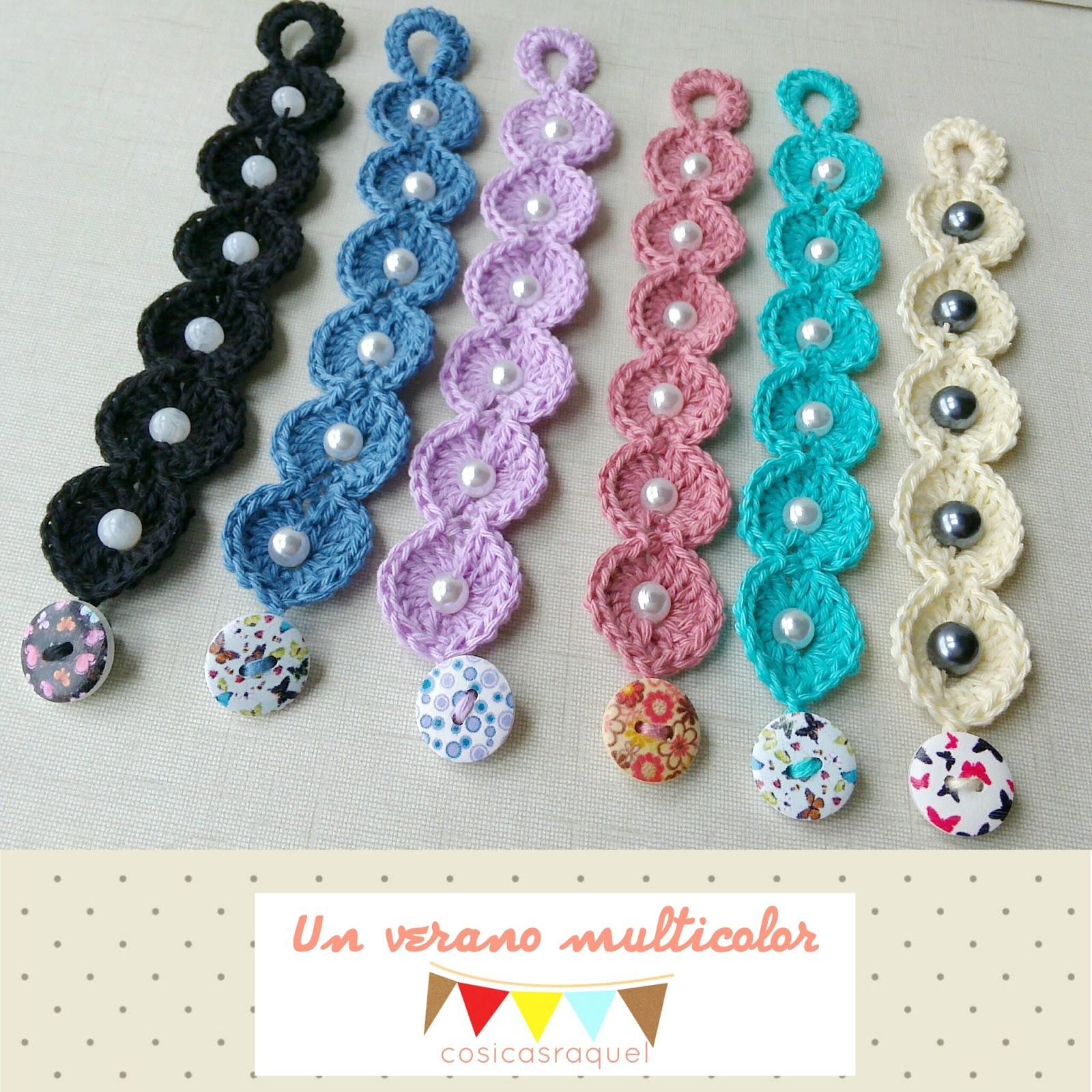 Cosicasraquel pulseras de crochet - Ideas para hacer ganchillo ...