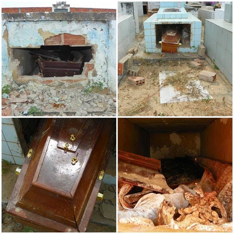 Túmulos são violados no cemitério da Barra dos Coqueiros