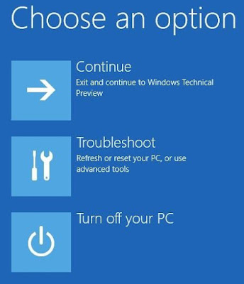 windows startup options
