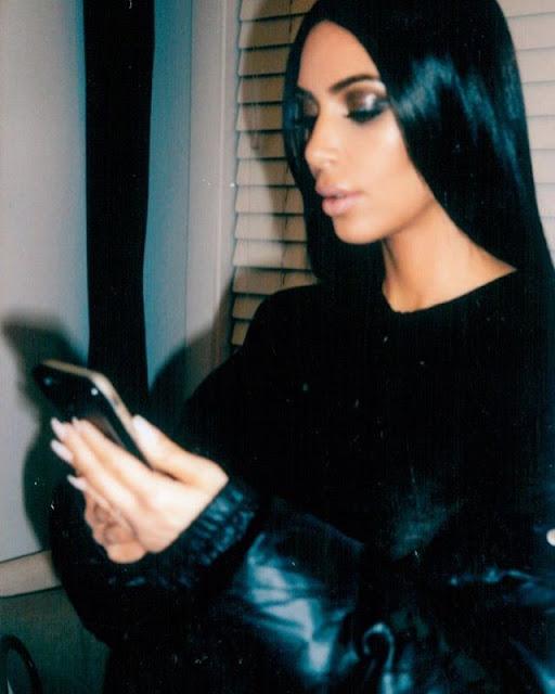Kim-Kardashian-in-Fully-Black-Costume-image-on-Instagram