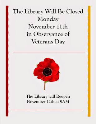 Library closed on Veterans Day