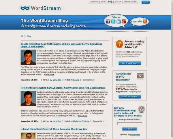 WordStream.com-SEO-blog-for-advanced Bloggers and Internet marketers