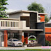 1540 sq-ft contemporary 4 BHK home architecture
